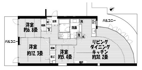 トワ・イグレック 203 間取り図(改)のコピー