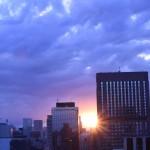 銀座行って夕陽を見る件 ヽ(´▽`)/