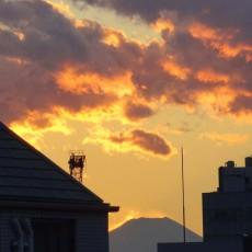 会社から富士山が見えた!ヽ(´▽`)/