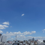 ある日の東の空が眩しい。
