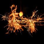 線香花火を撮ってみた。