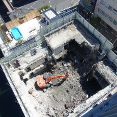 隣の解体工事は順調の様です。