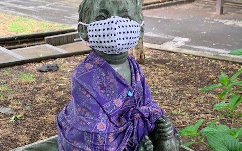 小野散歩 ~手作りマスクのかわいい子